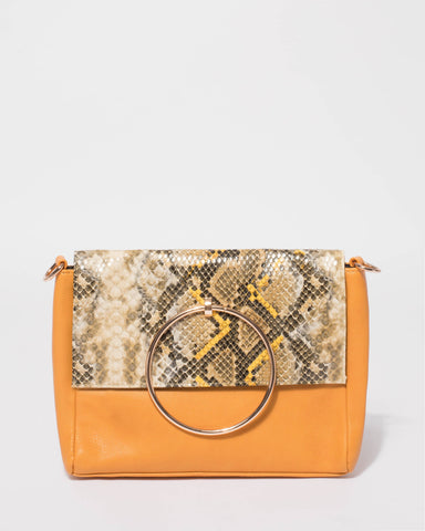 Yellow Eileen Ring Crossbody Bag