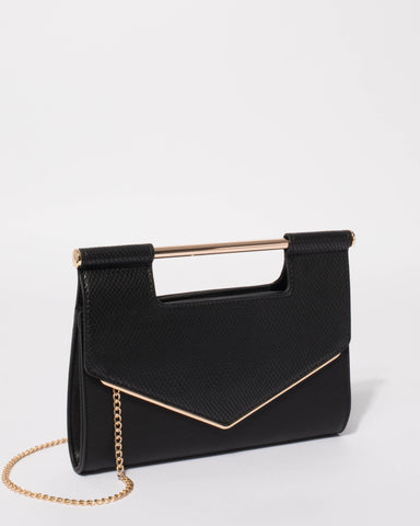 Black Eileen Handle Clutch Bag