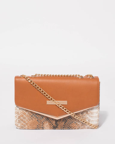 Tan Eileen Envelope Tote Bag