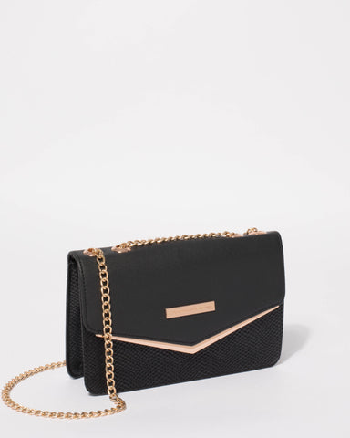 Black Eileen Envelope Tote Bag