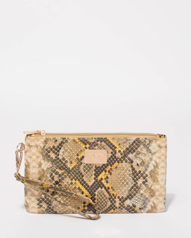 Multi Colour Snake Brook Wristlet Purse
