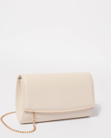 Ivory Eileen Snake Clutch Bag