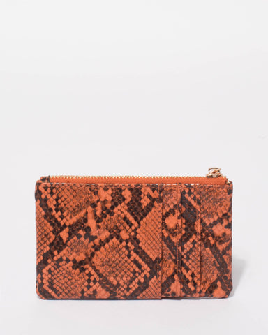 Burnt Orange Snake Eileen Purse