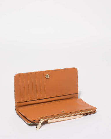 Brown Snake Matilda Wallet