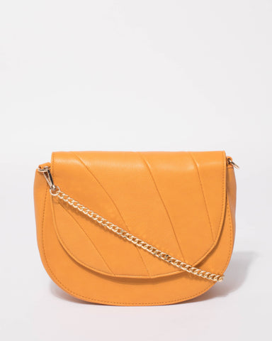 Yellow Eileen Saddle Bag