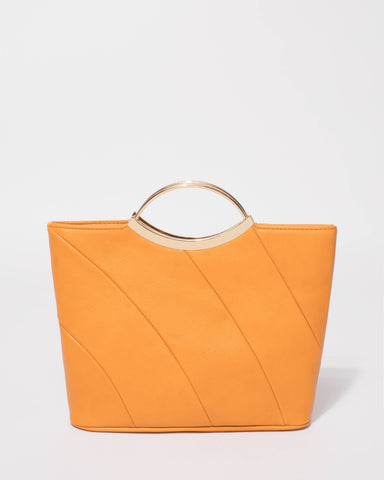 Yellow Jessie Clutch Bag