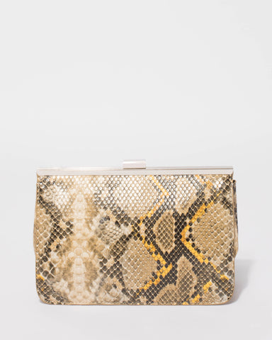 Multi Colour Maritza Snake Clutch Bag
