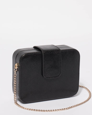 Black Melinda Clutch Bag