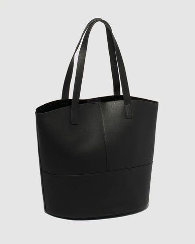 Black Ello Large Bucket Tote Bag