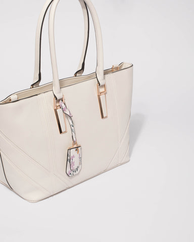White Amina Tote Bag