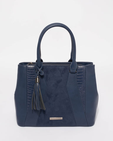 Navy Autumn Tote Bag