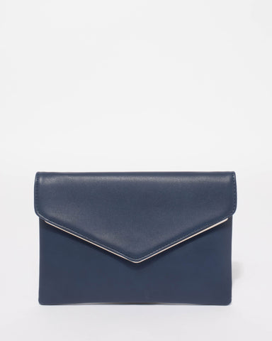 Navy Samantha Clutch Bag