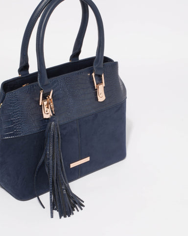 Navy Kira Medium Tote Bag