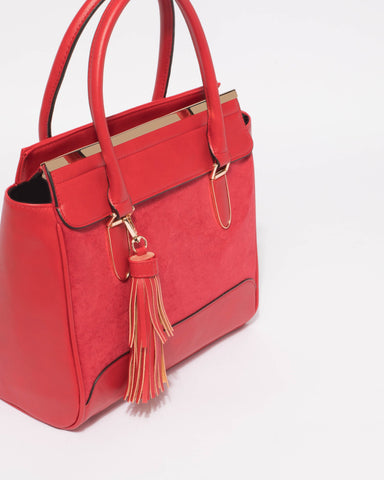 Red Lottie Medium Tote Bag