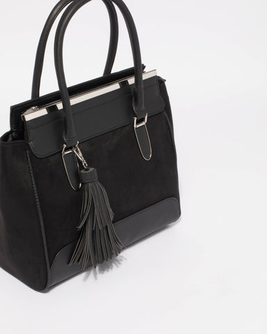 Black Lottie Medium Tote Bag