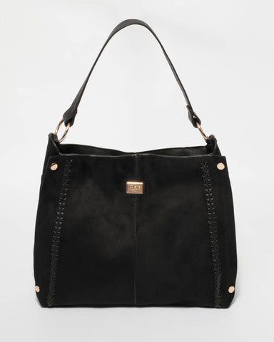 Black Abby Slouch Tote Bag