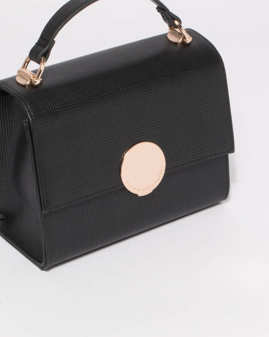 Black Victoria Crossbody Bag