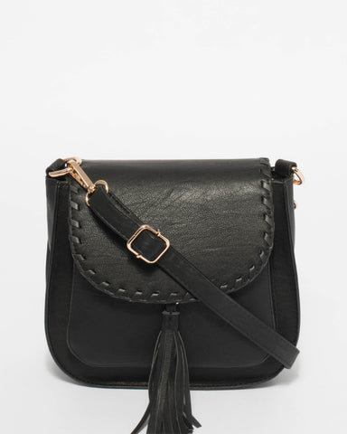 Black Diletta Crossbody Bag