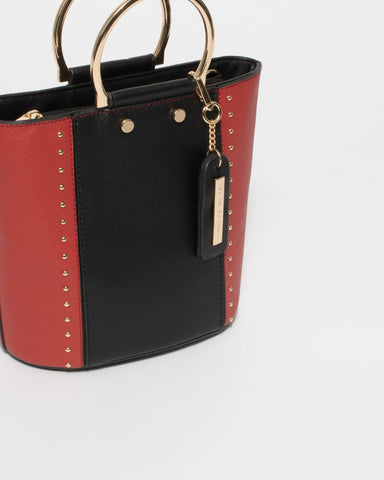 Red And Black Clara Crossbody Bag