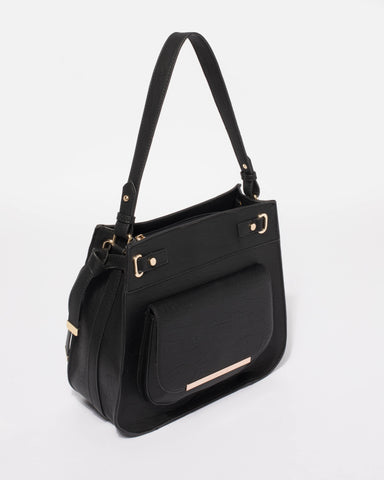 Black Lili Medium Tote Bag