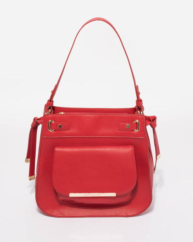 Red Lili Medium Tote Bag
