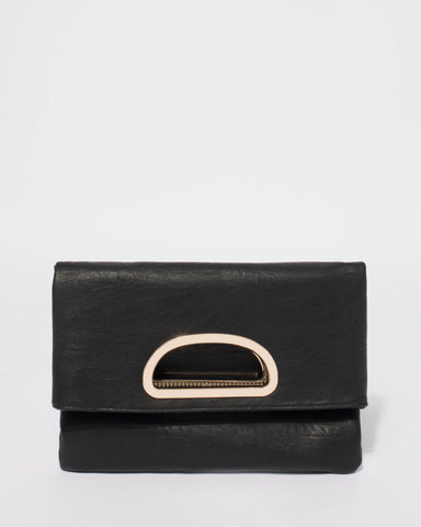 Black Karina Ring Clutch Bag