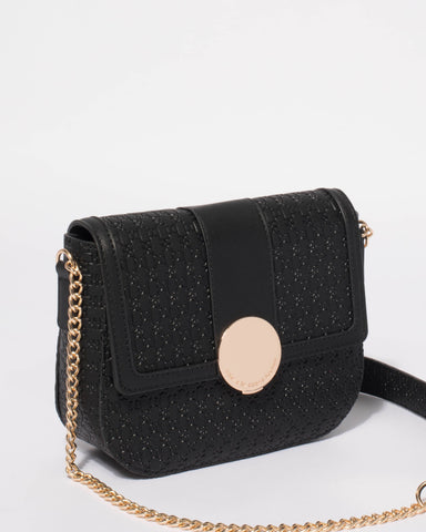 Black Holly Saddle Crossbody Bag