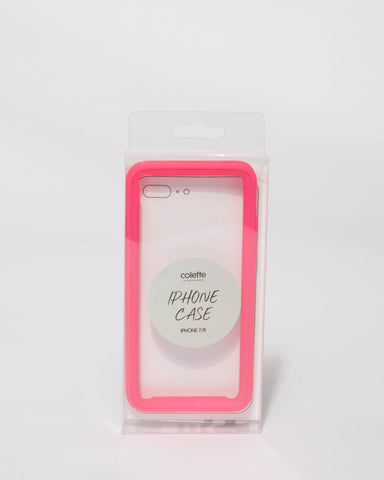 Neon Pink Iphone 7 & 8 Case