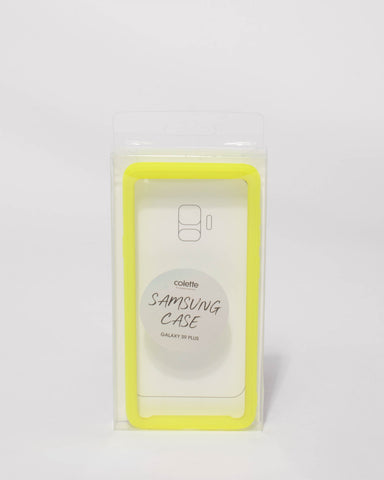 Neon Yellow Samsung Galaxy S9 Plus Case