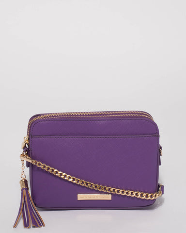 Purple Jett Crossbody Bag