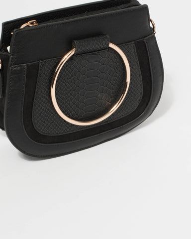 Black Aurora Crossbody Bag