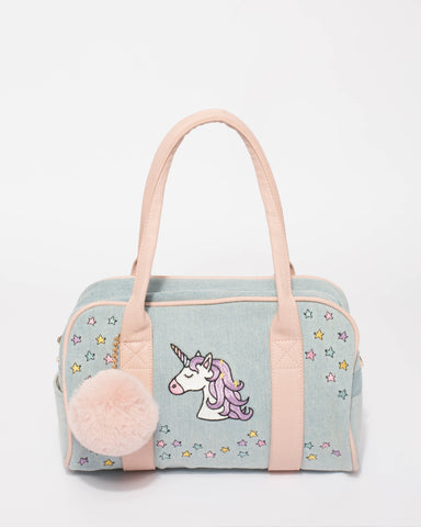 Denim Unicorn Mini Weekender Bag