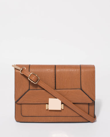 Tan Eileen Crossbody Bag