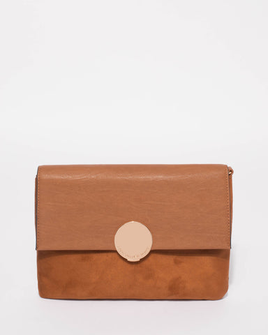 Tan Danielle Small Crossbody Bag