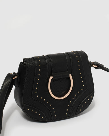 Black Makayla Crossbody Bag
