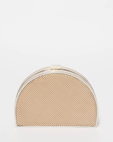 Ivory Elena Bead Clutch Bag