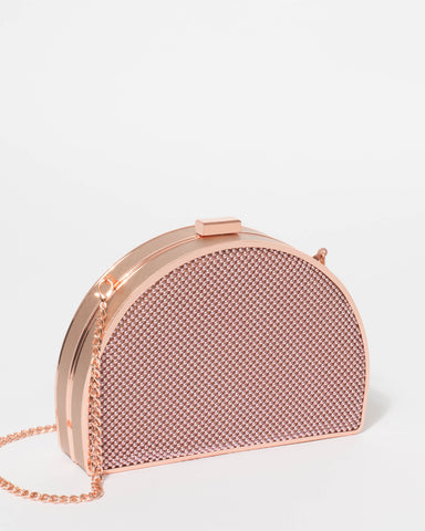 Rose Gold Elena Bead Clutch Bag