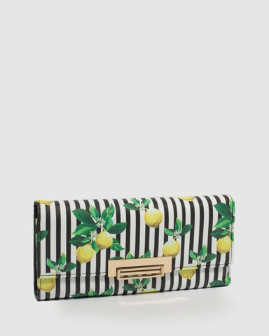 Multi Colour Naomi Print Lock Wallet