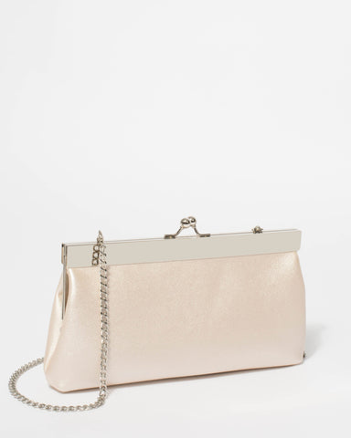 Ivory Diana Clip Clutch Bag