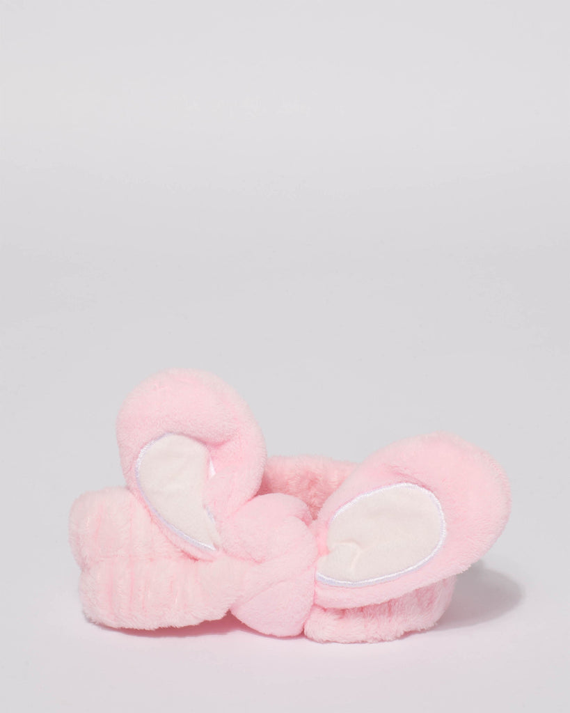 Pink Bunny Ears Makeup Headband