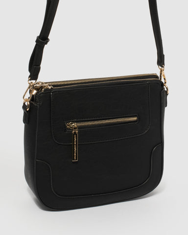 Black Karlie Saddle Bag