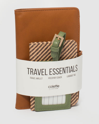 Brown Vacay Travel Pack