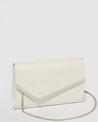 White Sienna Clutch Bag