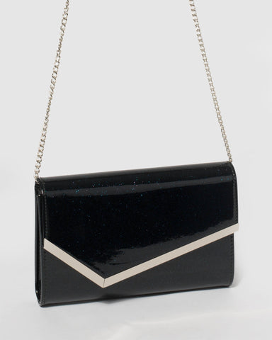 Navy Sienna Clutch Bag