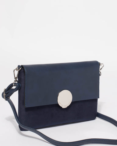 Navy Danielle Small Bag