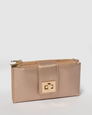 Rose Gold Greta Lock Wallet