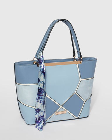 Blue Madison Scarf Tote Bag