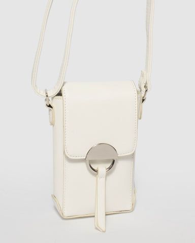 White Mobile Crossbody Bag