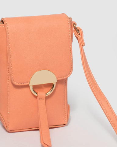 Coral Mobile Crossbody Bag