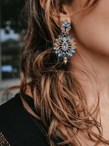 Multi Stone Statement Earrings